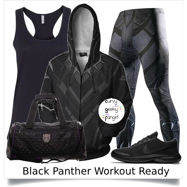Black Panther Fandom Fitness Fashion